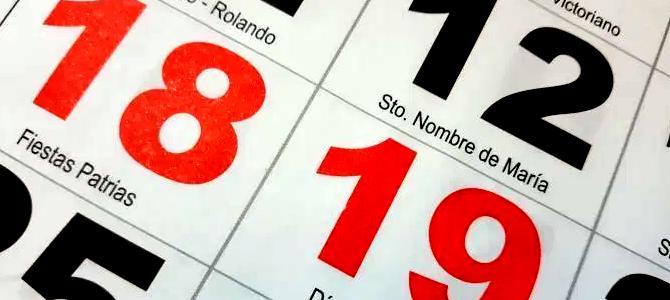 ¿Qué días son feriados irrenunciables para estas Fiestas Patrias?