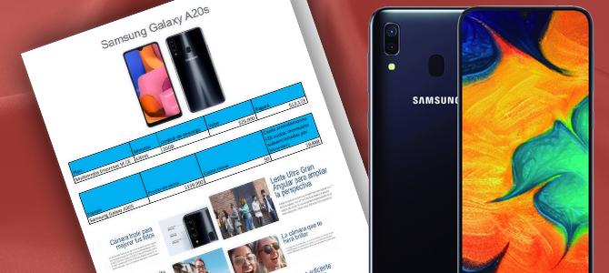 Convenio Celular Samsung A20