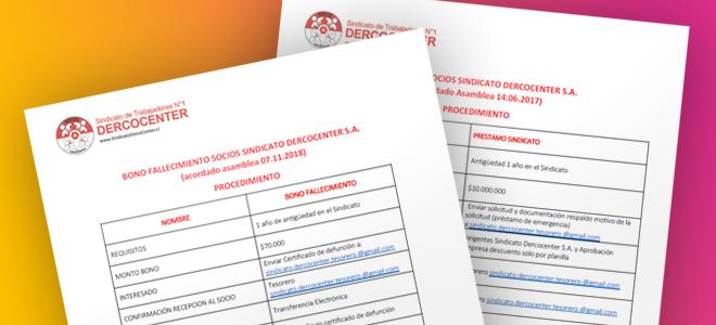 Formularios de Procedimientos: Prestamos a socios y Bono Fallecimiento