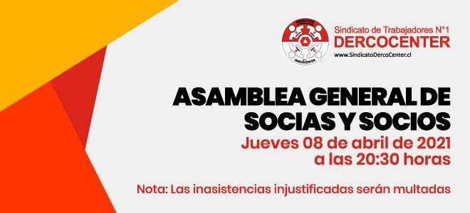 Asamblea General de Socias y Socios: 08 de Abril, a las 20:30 horas